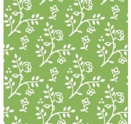 Poppenhuis behang Julia, groen met wit