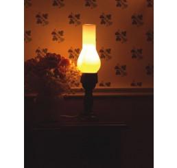 tafellamp met hoog glas