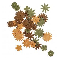 Papieren bloemen bruin