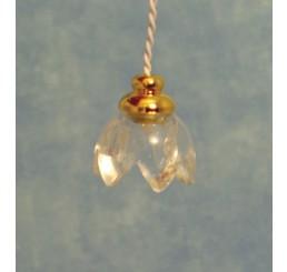 Lily hanglamp, licht glas