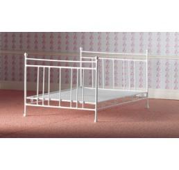 Wit metalen 2-persoonsbed