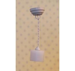 Witte cylinder hanglamp (LED)