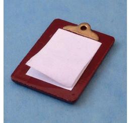 Klembord met papier