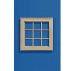 9 vaks raam blank hout