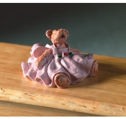 teddybeer in roze