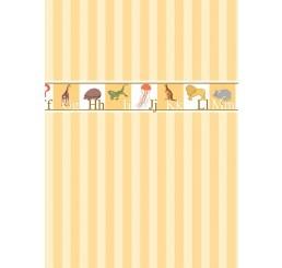 alfabet behang met dieren