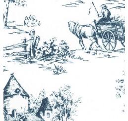 Poppenhuis behang Toile de Jouy Blue