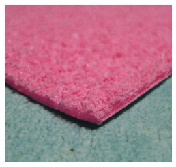 Vloerbedekking roze hoge pool