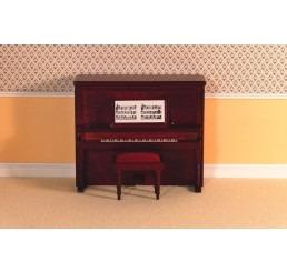 Victoriaanse piano met krukje