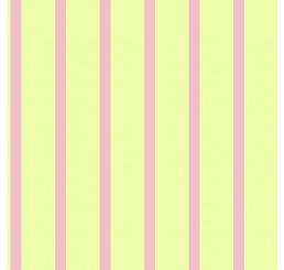 Poppenhuis behang roze gestreept