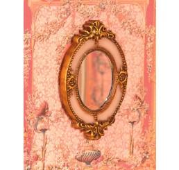 Gedecoreerde ovale spiegel