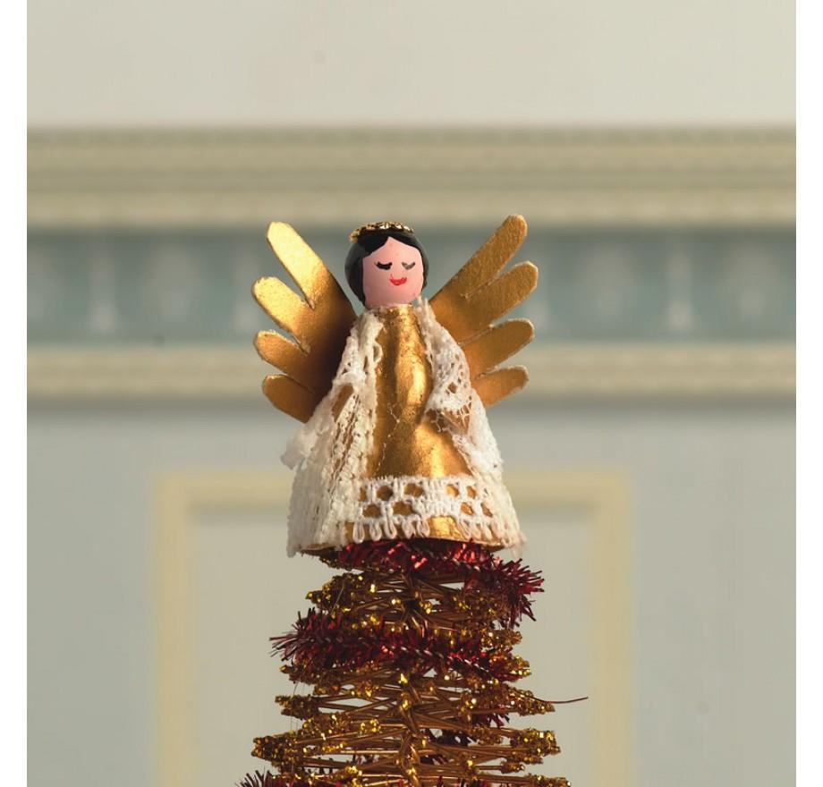 kerstengel als kerstboom piek ,Dolls House Emporium 7443