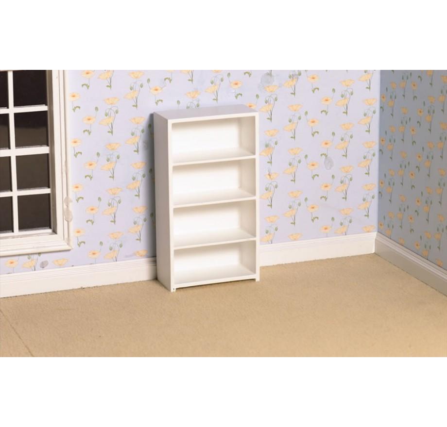 witte boekenkast dolls house emporium 2448