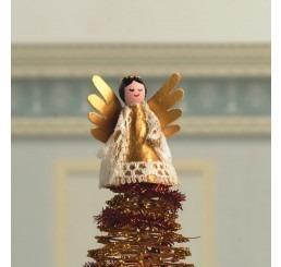 kerstengel als kerstboom piek