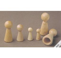 Houten kegels 70mm voor vingerpopjes