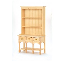 Dressoir, 3 laden, blank hout
