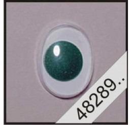 2 ovale plak wiebeloogjes groen