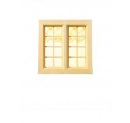 blank houten 2 luik raam