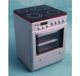 Fornuis met oven, zilverkleurig