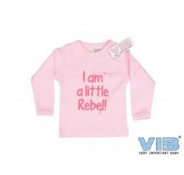 T-Shirt 'I am a little Rebel!'Roze