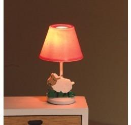 Slaapkamerlamp, roze voet