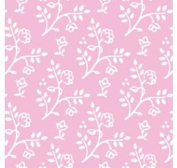 Poppenhuis behang Julia, roze met wit
