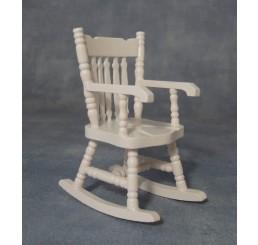 Keuken schommelstoel, wit