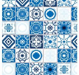 Antiek blauwe mediterraanse tegels met relief