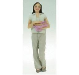 Moderne vrouw met handdoeken