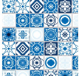Antiek blauwe mediterraanse tegels