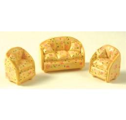 Sofa met 2 stoelen
