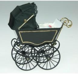 Kinderwagen, zwart
