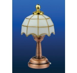 Witte Tiffany tafellamp LED