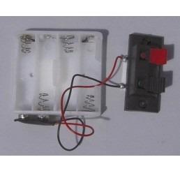 12V batterij houder met klem