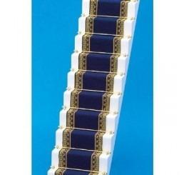 Traploper, blauw met goud,  5 x 50 cm (b x l)