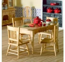 Keukentafel met 4 stoelen