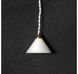 Hanglamp met witte kap