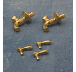 Gouden wandkranen, 2 stuks