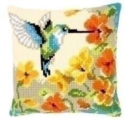 Kolibrie met bloemen