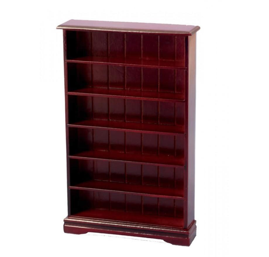 boekenkast met 6 planken mahoniestreets ahead df1554