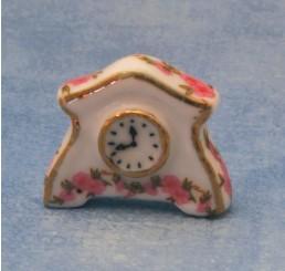 Keramische roze klok