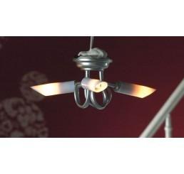Plafondlamp met 3 armaturen