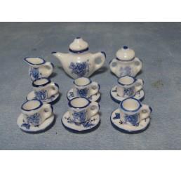 Blauw thee servies