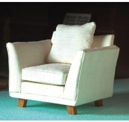Klasieke witte fauteuil