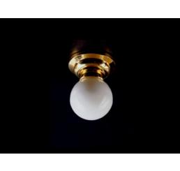 Plafondlamp, bol matglas