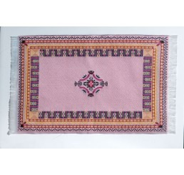 Soft Pink Woven Rug