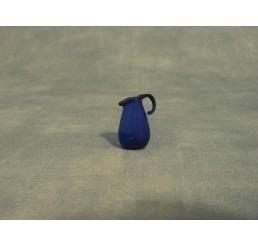Melk- cq Limonadekan, glas, blauw