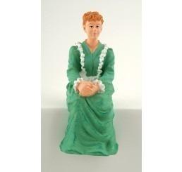Zittende Victoriaanse vrouw