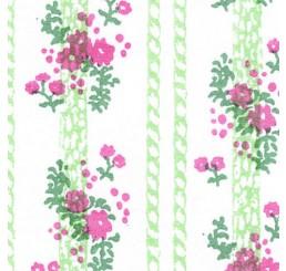 Poppenhuis behang, Georgina roze
