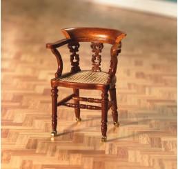 dickens bureaustoel in walnoot